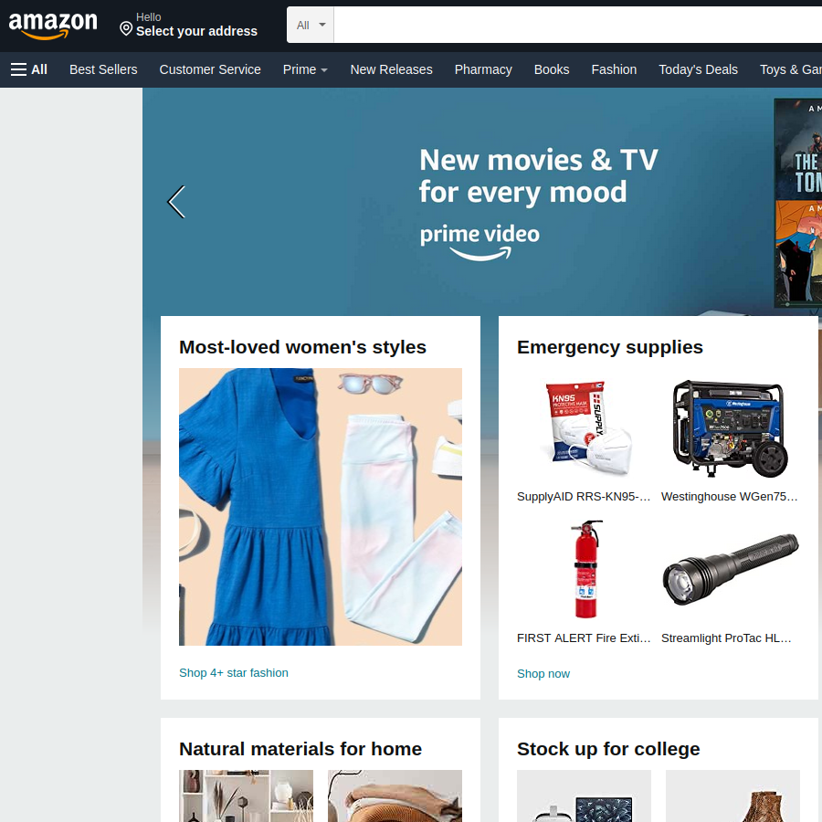 Automatically Focus on Amazon's Search Bar